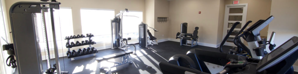 Warner Robins apartment amenities, apartment gym, beacon place apartments